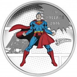 2016 Canada Fine Silver $20 Coin - DC COMICS™ Originals: The Man of Steel™