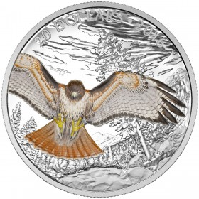 2016 Canada Fine Silver $20 Coin - Majestic Animals: The Regal Red-Tailed Hawk