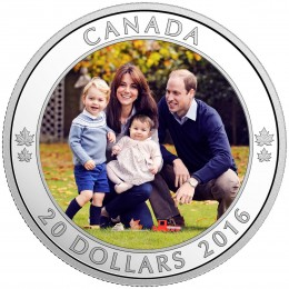 2016 Canada Fine Silver $20 Coin - A Royal Tour