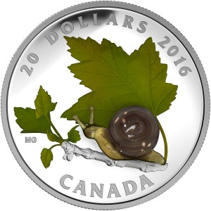 2016 Canada $20 Little Creatures: Venetian Glass Snail 1 oz Fine Silver Coin