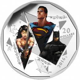 2016 Canadian $20 Batman v Superman: Dawn of Justice™, The Trinity - Fine Silver Coin