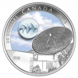 2016 Canadian $20 The Universe: Glow-in-the-Dark Glass with Silver Fume - 1 oz Fine Silver Coin