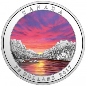 2017 Canadian $20 Weather Phenomenon: Fiery Sky - 1 oz Fine Silver Coin