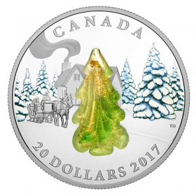 2017 Canadian $20 Murano Snow-Covered Tree (Venetian Glass) - 1 oz Fine Silver Coin