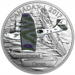 2017 Canadian $20 Aircraft of the Second World War: Consolidated Canso - 1 oz Fine Silver Coin
