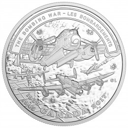 2017 Canadian $20 Second World War Battlefront Series: The Bombing War 1 oz Fine Silver Coin