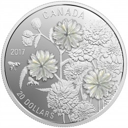 2017 Canada Fine Silver $20 Coin - Pearl Flowers