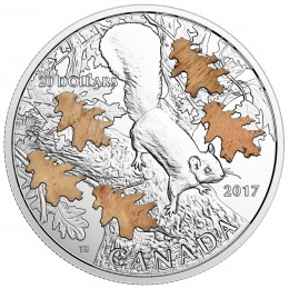 2017 Canada Fine Silver $20 Coin - The Nutty Squirrel and the Mighty Oak
