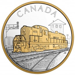 2017 Canadian $20 Locomotives Across Canada: RS 20 - 1 oz Fine Silver & Gold-plated Coin