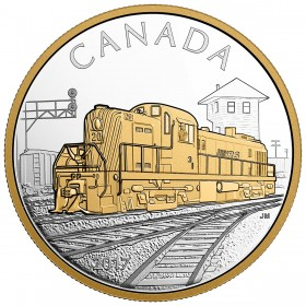 2017 Canada Fine Silver $20 Coin - Locomotives Across Canada: RS 20
