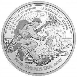 2017 Canada Fine Silver $20 Coin - Second World War Battlefront: The Battle of Dieppe