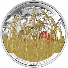 2016 Canadian $20 Landscape Illusion: Pronghorn - 1 oz Fine Silver Coin