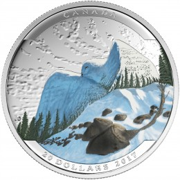 2017 Canadian $20 Landscape Illusion: Snowy Owl - 1 oz Fine Silver Coin