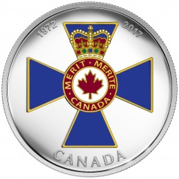 2017 Canadian $20 Canadian Honours: 45th Anniversary of The Order of Military Merit - 1 oz Fine Silver Coin