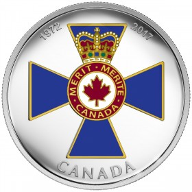 2017 Canada Fine Silver $20 Coin - Canadian Honours: 45th Anniversary of The Order of Military Merit