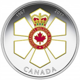 2017 Canadian $20 Canadian Honours: 50th Anniversary of the Order of Canada - 1 oz Fine Silver Coin