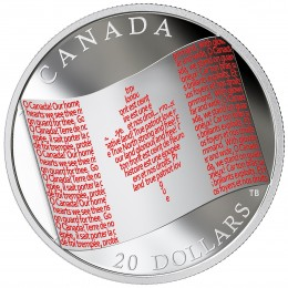 2018 Canadian $20 Canadian Flag - 1 oz Fine Silver Coin