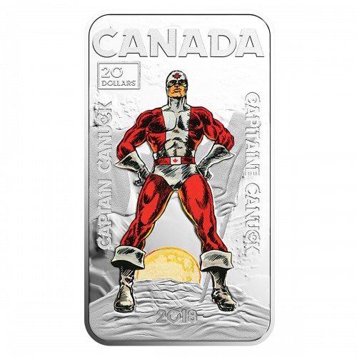 2018 Canadian $20 Captain Canuck - 1 oz Fine Silver Coin
