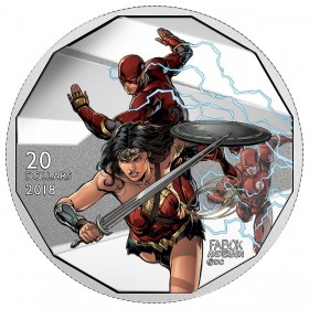 2018 Canadian $20 The Justice League: The Flash and Wonder Woman - 1 oz Fine Silver Coin