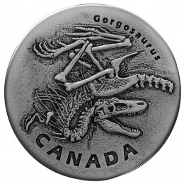 2018 Canadian $20 Ancient Canada: Gorgosaurus - 1 oz Fine Silver Coin (Antique Finish)