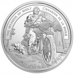 2018 (1943-) Canadian $20 Second World War Battlefront: The Invasion of Sicily 1 oz Fine Silver Coin