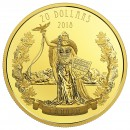 2018 Canadian $20 A Modern Allegory: Borealia - 1 oz Fine Silver Coin & Gold-plated Coin