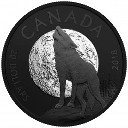 2018 Canadian $20 Nocturnal by Nature: The Howling Wolf - 1 oz Fine Silver Coin