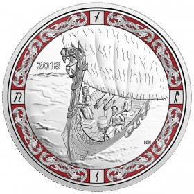 2018 Canadian $20 Norse Figureheads: Viking Voyage - 1 oz Fine Silver Coin