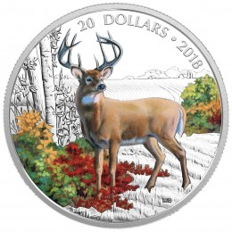 2018 Canadian $20 Majestic Wildlife: Courageous Cougar - 1 oz Fine Silver Coin