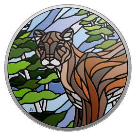 2018 Canadian $20 Canadian Mosaics: Cougar - 1 oz Fine Silver Coin