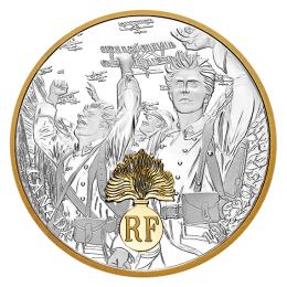 2018 (1918-) Canadian $20 First World War Allies: France - 1 oz Fine Silver & Gold-plated Coin