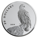 2019 Canadian $20 The Valiant One: Bald Eagle - 1 oz Fine Silver Coin