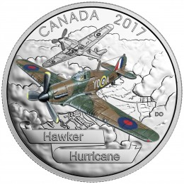 2017 Canadian $20 Aircraft of The Second World War: Hawker Hurricane - 1 oz Fine Silver Coin