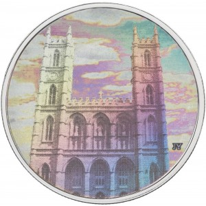 2006 Canadian $20 Architectural Treasures: Notre-Dame Basilica 1 oz Fine Silver Hologram Coin