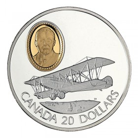 1992 Canadian $20 Aviation Series I: Curtiss JN-4 (Canuck) Sterling Silver Coin (Coin 5 of 10)