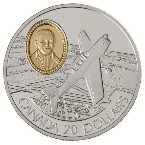 1995 Canadian $20 Aviation Series 2: DHC-1 Chipmunk Sterling Silver Coin (Coin 2 of 10)