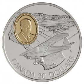 1995 Canadian $20 Aviation Series 2: Fleet 80 Canuck Sterling Silver Coin (Coin 1 of 10)