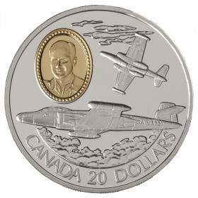 1996 Canadian $20 Aviation Series 2: Avro Canada CF-100 Canuck Sterling Silver Coin (Coin 3 of 10)