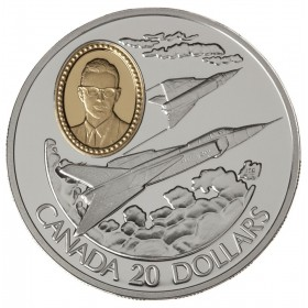 1996 Canadian $20 Aviation Series 2: Avro Canada CF-105 Arrow Sterling Silver Coin (Coin 4 of 10)