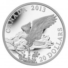 2013 Canada Fine Silver $20 Coin - The Bald Eagle: Returning from the Hunt