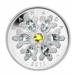2011 Canada Fine Silver $20 Coin - Crystal Series: Topaz Crystal Snowflake