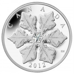 2012 Canada Fine Silver $20 Coin - Crystal Series: Holiday Snowflake