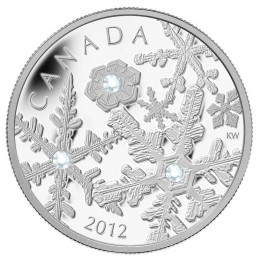 2012 Canada Fine Silver $20 Coin - Crystal Series: Holiday Snowstorm