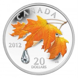 2012 Canada Fine Silver $20 Coin - Crystal Series: Sugar Maple Crystal Raindrop