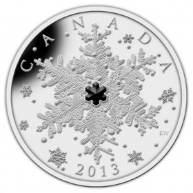 2013 Canadian $20 Crystal Series: Winter Snowflake - 1 oz Fine Silver Coin