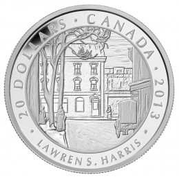 2013 Canadian $20 Group of Seven: Lawren S. Harris, Toronto Street Winter Morning - 1 oz Fine Silver Coin