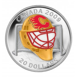 2008-2009 Canada Sterling Silver $20 Coin - NHL Goalie Masks: Calgary Flames