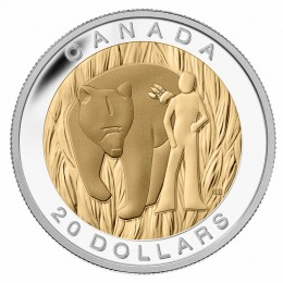 2014 Canada Fine Silver $20 Coin - The Seven Sacred Teachings: Courage