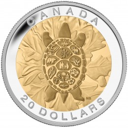 2014 Canada Fine Silver $20 Coin - The Seven Sacred Teachings: Truth