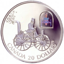 2000 Canadian $20 Transportation: The H.S. Taylor Steam Buggy Sterling Silver Hologram Coin